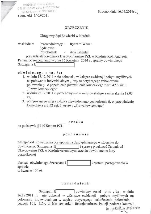 Całe orzeczenie OSŁ w Krośnie w pliku .pdf